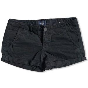 AEO Black Stretch Shortie Short